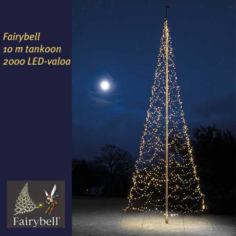 Fairybell 10 m tankoon, 2000 LED-valoa