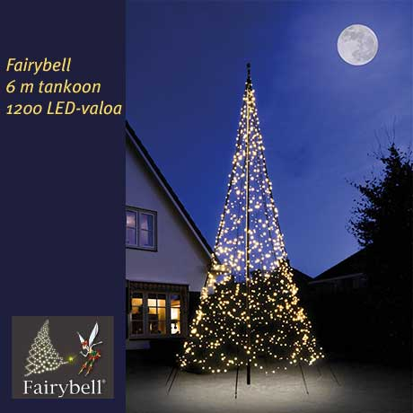 Fairybell 6 m tankoon, 1200 LED-valoa